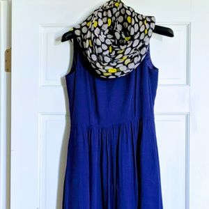 J. Crew Navy Dress with free matching Scarf
